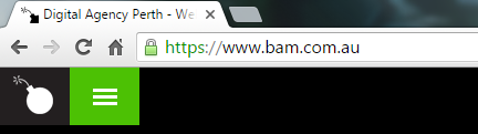 https is displayed with a lock in green