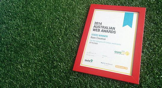 2014 Australian Web Awards state winner - Culture & Events