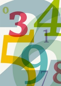 typeface numbers