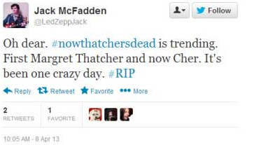 Thatcher or Cher