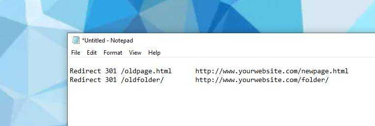 Redirects listed in an .htaccess file